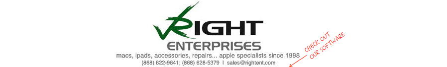 Right Enterprises - macintosh computers, ipads, accessories, repairs